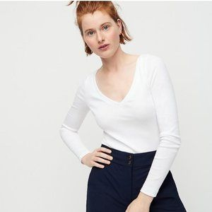 J. Crew Slim perfect long-sleeve V-neck T-shirt